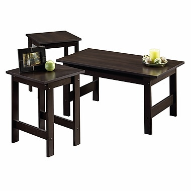 Sauder 3-Piece Table Set, Cinnamon Cherry