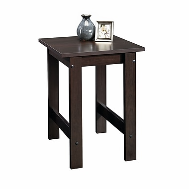 Sauder End Table, Cinnamon Cherry