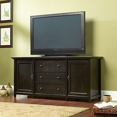 Sauder Edge Water Credenza with 4-Adjustable Shelves