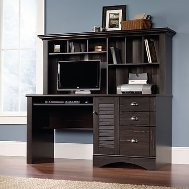 Sauder Harbor View puter Desk with Hutch Antiqued