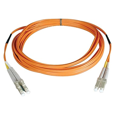 Tripp Lite® 5m Fiber Optic LC Male/Male Multimode Duplex Patch Cable, Orange