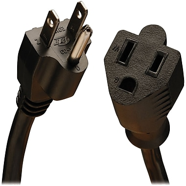 Tripp Lite® SJT 5-15P/5-15R Medium Duty Power Extension Cord, 16 AWG, 3' (P024-003-13A)