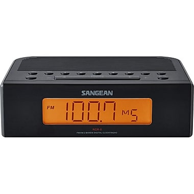 Sangean RCR-5BK Digital FM/AM Digital Tuning Clock, Black