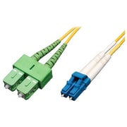 Tripp Lite N366 1 m LC/SC/APC Male/Male 8.3/125 Duplex Singlemode Fiber Optic Patch Cable, Yellow