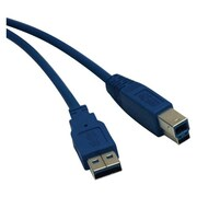 Tripp Lite® 3' SuperSpeed USB 3.0 A/B Cable, Blue (U322-003)