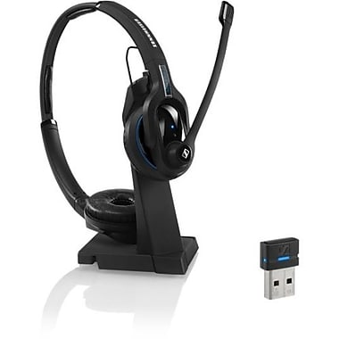 Sennheiser MB Pro 2 UC 506045 Wireless Double-Sided Bluetooth Headset with Dongle, Black