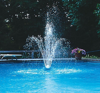 Swimline® Blossom Floating 3-Tier Fountain For Pools, White/Blue
