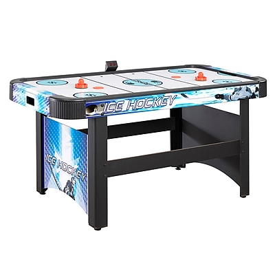 Hathaway™ Face-Off 5' Air Hockey Table With Electronic Scoring, Blue/Black