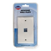 Shaxon 1 Port Single Gang Standard Keystone Wall Plate, White