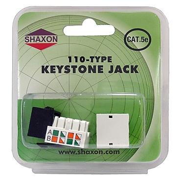 Shaxon Category 5e RJ45/110 568A/B Keystone Jack, Black
