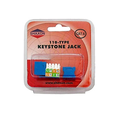 Shaxon Category 6 RJ45/110 568A/B Keystone Jack, Blue