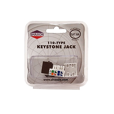 Shaxon Category 6A RJ45/110 568A/B Keystone Jacks