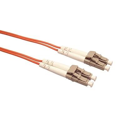 Shaxon 3.3' LC to LC 65.5/125 Multimode Duplex Fiber Optic Patch Cord, Orange
