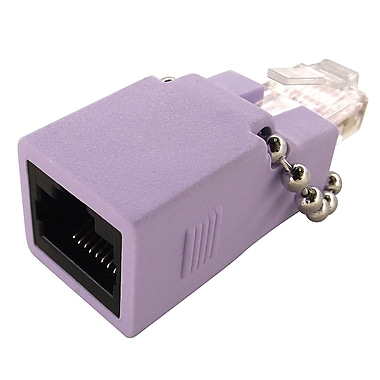 Shaxon Cat6 RJ48C to RJ45 T1/E1 Gigabit Crossover Adapter, Light Purple