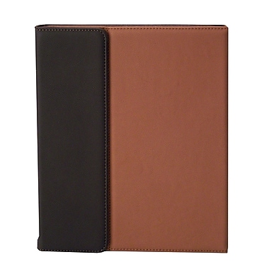 Shaxon SHX-IPC3-BR Folio Case with Velcro Holder for Apple iPad 2, Brown/Tan