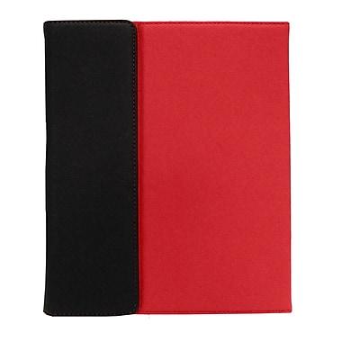 Shaxon SHX-IPC3-RD Folio Case with Velcro Holder for Apple iPad 2, Red/Black