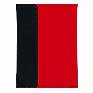 Shaxon SHX-MIPC-RD Folio Case with Velcro Holder for Apple iPad Mini, Red/Black