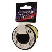 Shaxon 100' Solid Copper 22 AWG Wire On Spool, Yellow