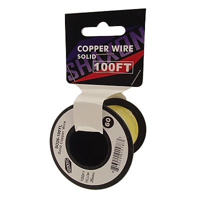Shaxon SO26-100YL 100' 26-AWG Wire On Spool, Yellow