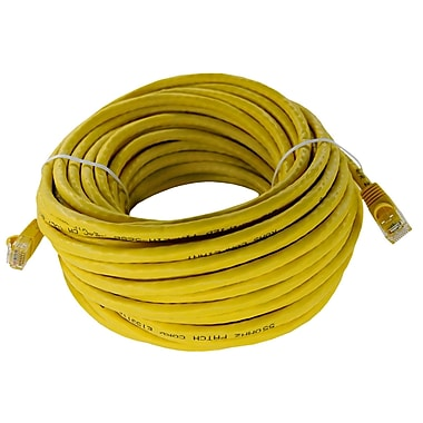Shaxon 50' Molded Category 6 RJ45/RJ45 Patch Cord, Yellow