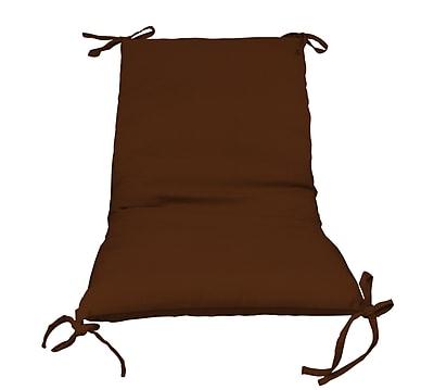 Fiberbuilt Outdoor Lounge Chair Cushion; Brown