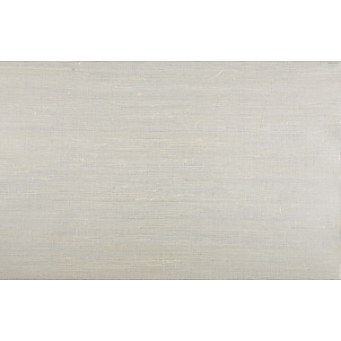 Inspired By Color™ Grasscloth Sisal Twil Wallpaper, Silver Metallic With Jute