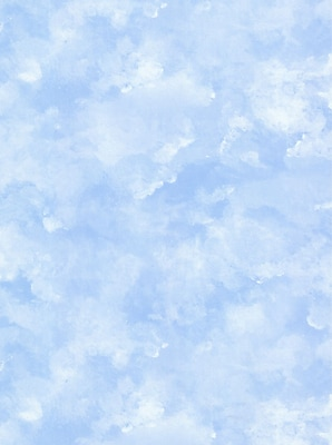 Inspired By Color™ Blue Atrium Clouds Wallpaper, Blue