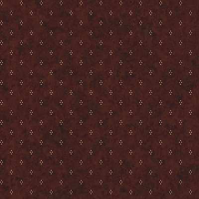 Inspired By Color™ Country & Lodge Dots With Crackle Wallpaper, Burgundy