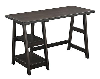 Convenience Concepts Designs2Go 47'' Rectangular Wood/Veneer Contemporary Workstations Desk, Espresso (090107ES)