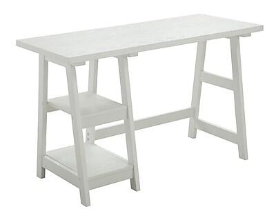 Convenience Concepts Designs2Go Trestle Writing Desk, White (090107W)