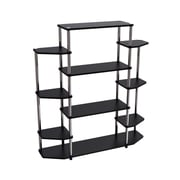 "Convenience Concepts 51.13"" Wood & Steel Bookcase"
