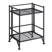 Convenience Concepts X-Tra Storage 2-Tier Folding Shelf, Metal