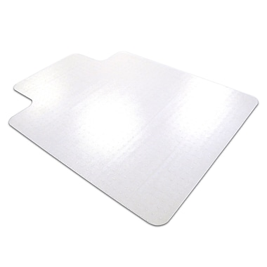 Floortex Ultimat 53''x48'' Polycarbonate Chair Mat for Hard Floor, Rectangular w/Lip (1213420LRA)