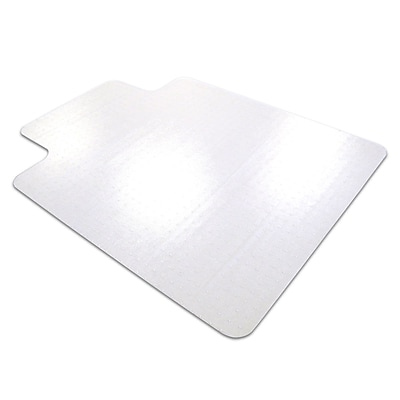 Floortex Anti-Slip 60''x48'' Polycarbonate Chair Mat for Hard Floor, Rectangular w/Lip (1215020LRA)