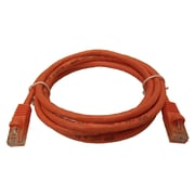Shaxon 7' Molded Category 6 RJ45/RJ45 Crossover Patch Cord, Orange
