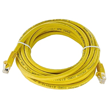 Shaxon UL724M814YL-7FB 14' CAT-6 Patch Cord, Yellow