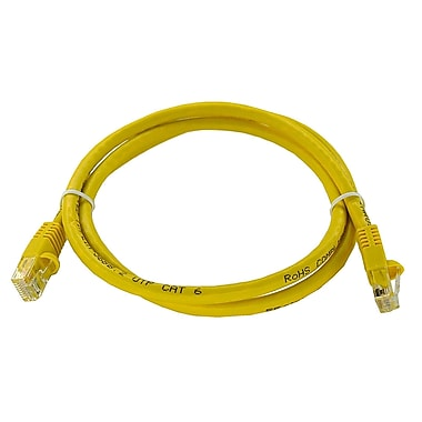 Shaxon 3' Molded Category 6 RJ45/RJ45 Patch Cord, Yellow