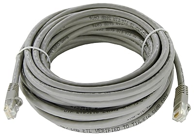 Shaxon 25' Molded Category 6 RJ45/RJ45 Patch Cord, Gray