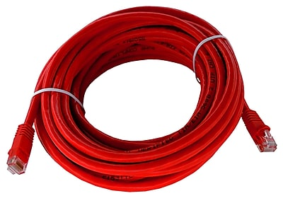 Shaxon 25' Molded Category 6 RJ45/RJ45 Patch Cord, Red