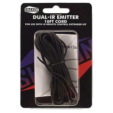 Shaxon Dual-IR Emitter With 10' Cord For Infrared Remote Control Extender Kit