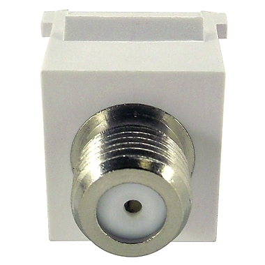 Shaxon Female to Female F Type Keystone Feed Through Coupler, White