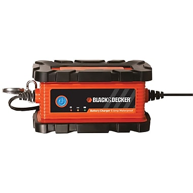 Black & Decker® BC6BDW Waterproof 6 A Battery Charger/Maintainer, Orange/Black