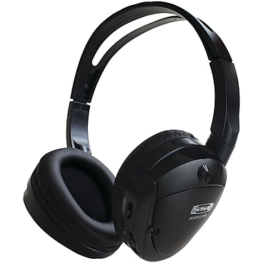 Sound Storm Foldable Wireless On-Ear Headphone with Infrared Transmitter, Black (SSLSHP22IR)