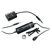 Audio-Technica® ATR-3350IS Omnidirectional Condenser Lavalier Microphone For Smartphones