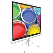 """Pyle® Universal 84"""" Floor Standing Portable Tripod Manual Projector Screen, 4:3, White Casing"""