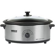 Nesco® 6 qt Roaster With Porcelain Cookwell, Stainless Steel