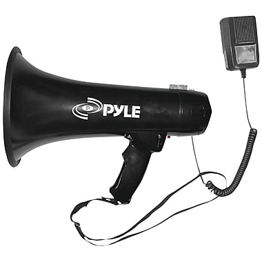 Pyle® Pro PMP43IN 40 W Professional Megaphone Bullhorn With Siren & 3.5 mm Aux-In For iPod, Black