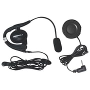 Motorola 1884 Wired Headset With Boom Microphone and PTT Button Bundle