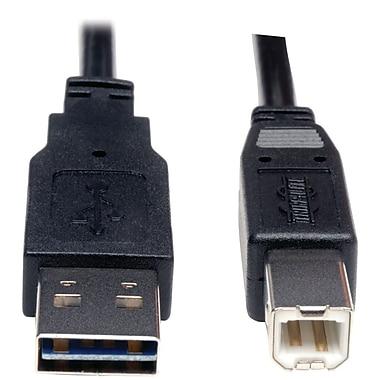Tripp Lite – Câble USB 2.0 universel réversible mâle vers mâle, 6 pi, noir (TRPUR022006)