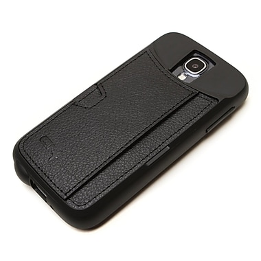 CM4 Q Card Ultra-slim Wallet Case For Samsung Galaxy S4, Black Onyx